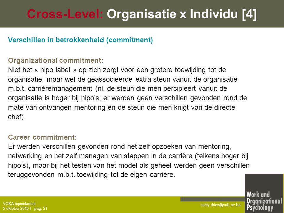 Cross-Level: Organisatie x Individu [4]